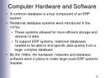 computer hardware and software22