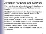 computer hardware and software9