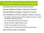 forward aqrv and ozone analysis strategy