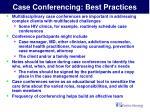 case conferencing best practices