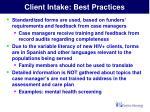client intake best practices