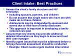 client intake best practices23