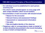 cms ama general principles of record documentation