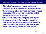 cms ama general principles of record documentation9