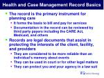 health and case management record basics5