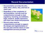 record documentation
