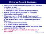 universal record standards11