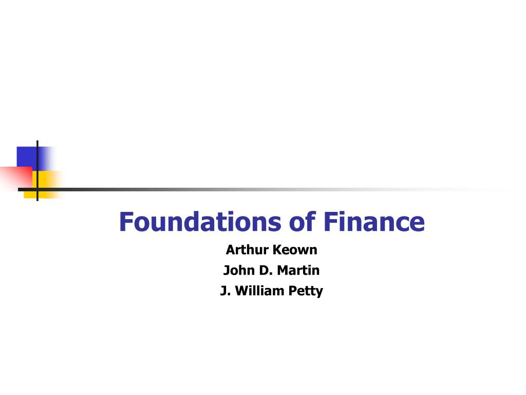 foundations of finance arthur keown john d martin j william petty l.