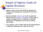 impact of agency costs on capital structure67