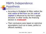 m m s independence hypothesis