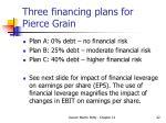 three financing plans for pierce grain42