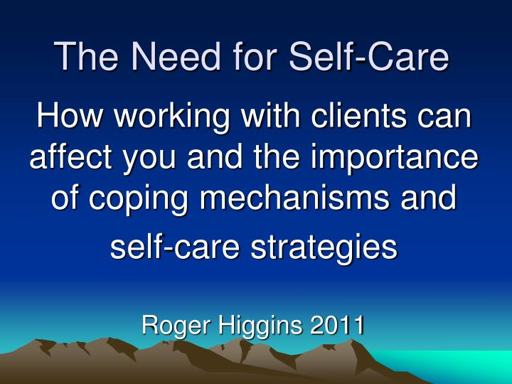 the need for self care n.
