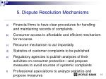 5 dispute resolution mechanisms