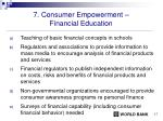 7 consumer empowerment financial education