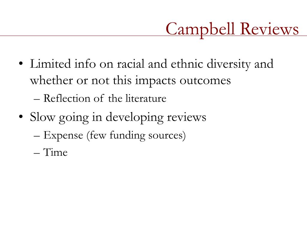 Campbell Reviews