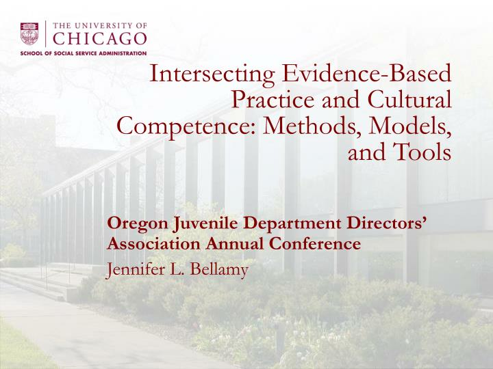Intersecting evidence based practice and cultural competence methods models and tools