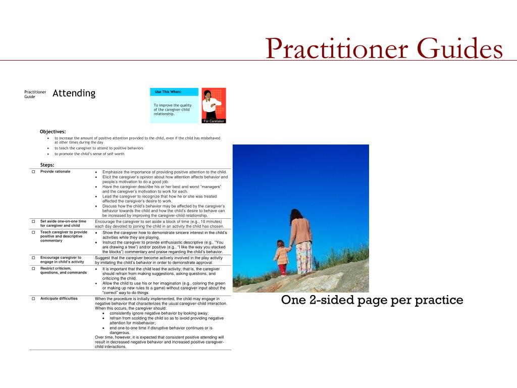Practitioner Guides