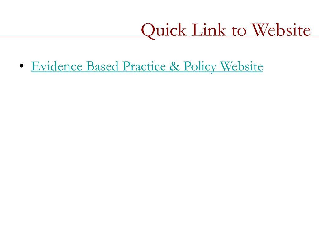 Quick Link to Website