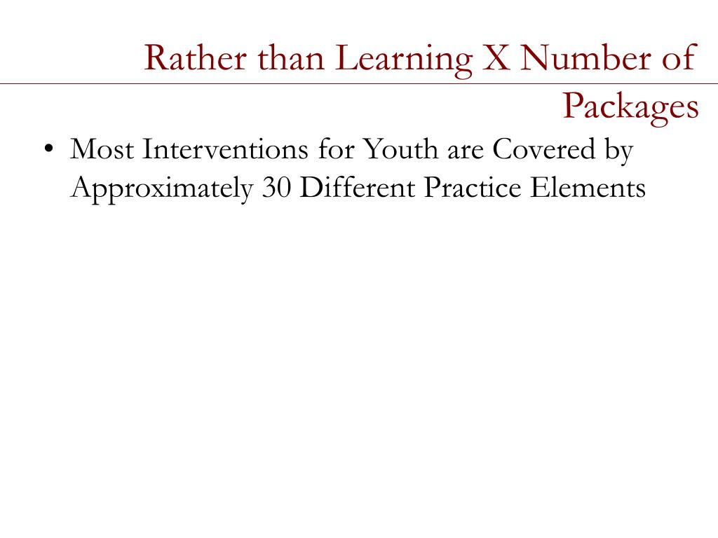 Rather than Learning X Number of Packages