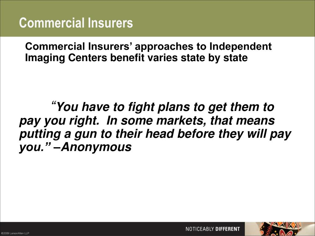 Commercial Insurers