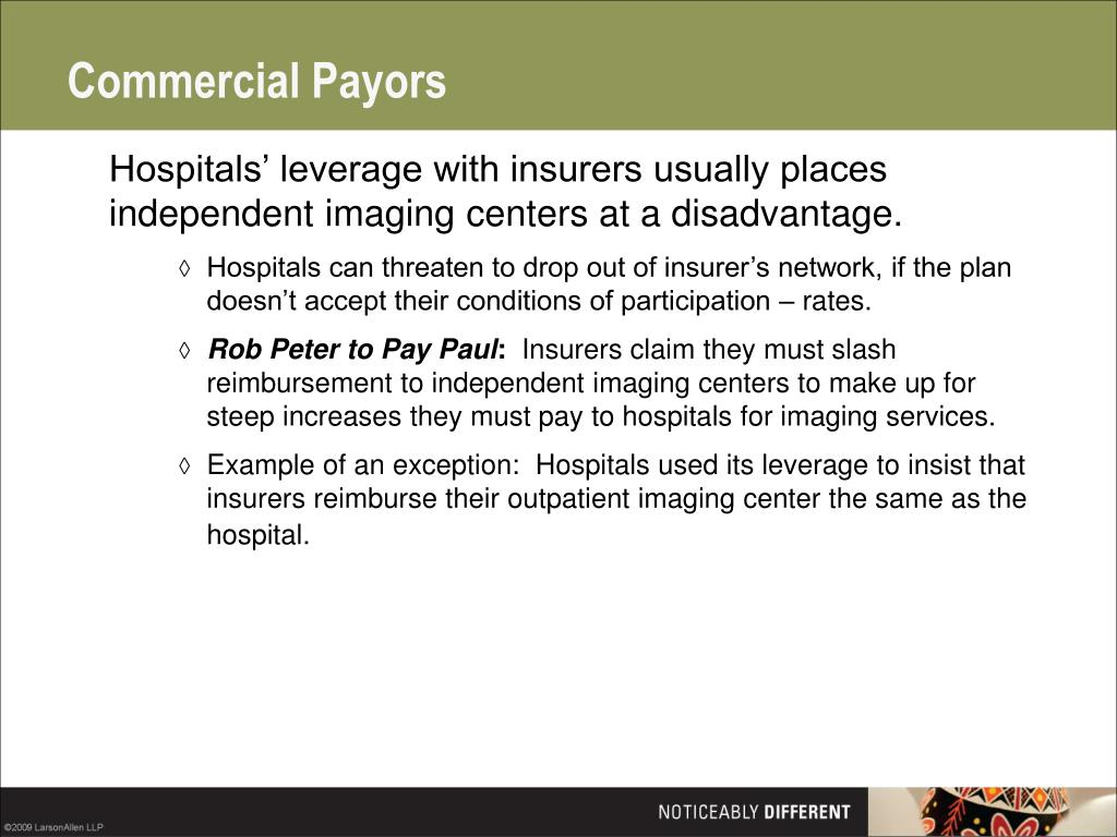 Commercial Payors