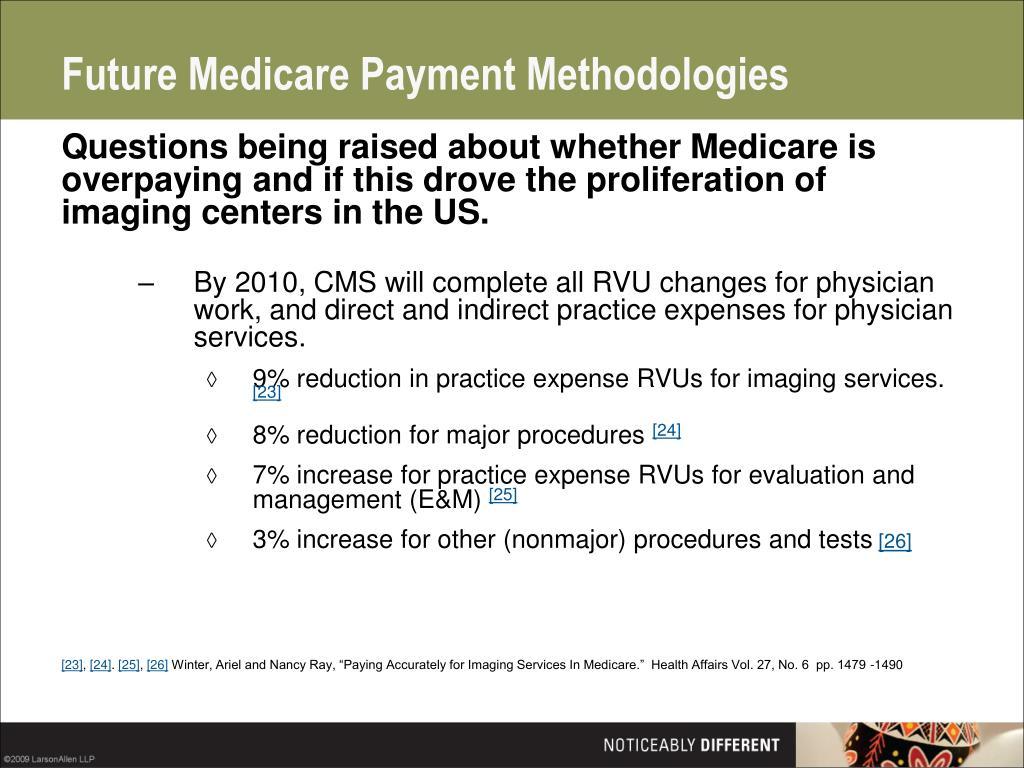 Future Medicare Payment Methodologies