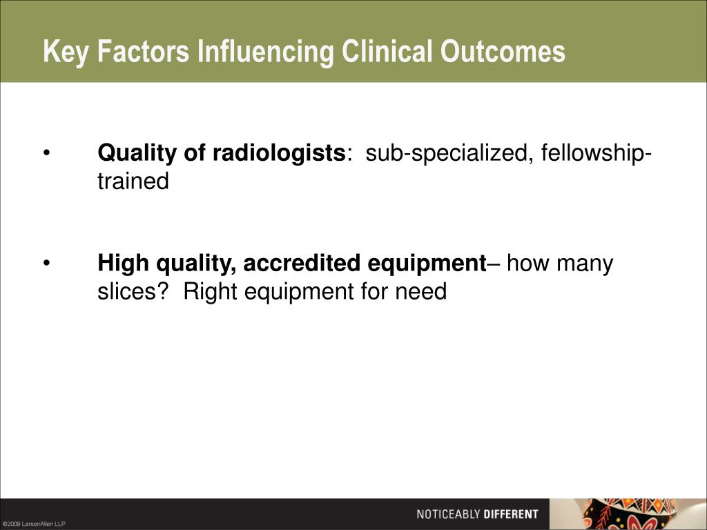 Key Factors Influencing Clinical Outcomes
