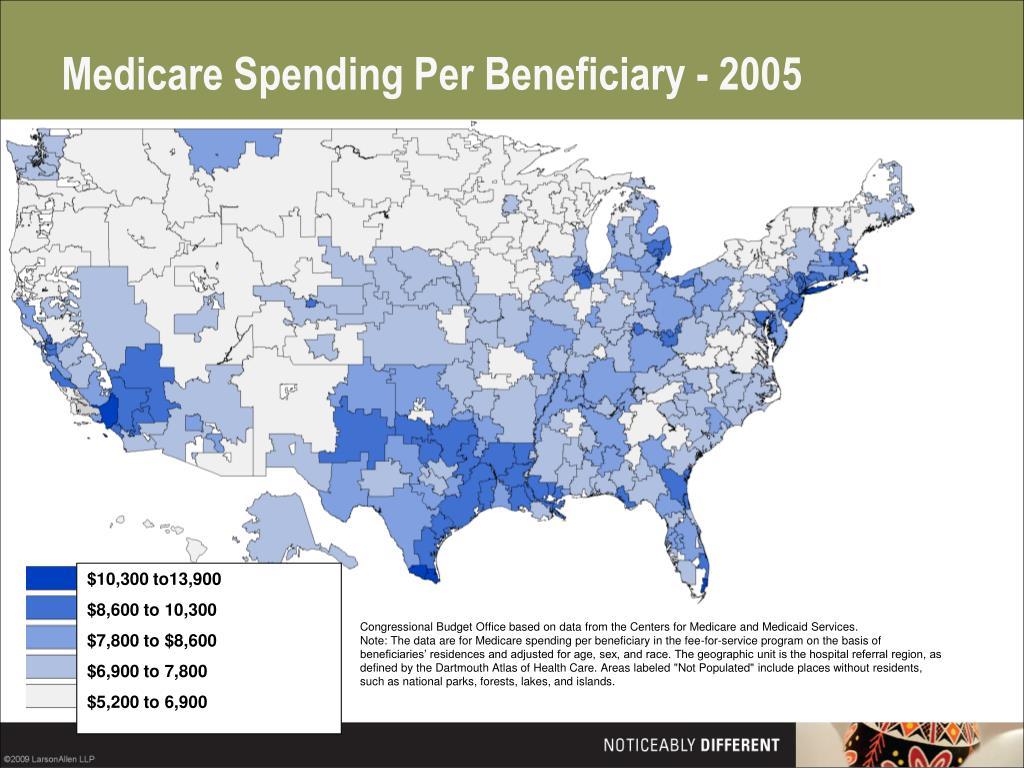 Medicare Spending Per Beneficiary - 2005