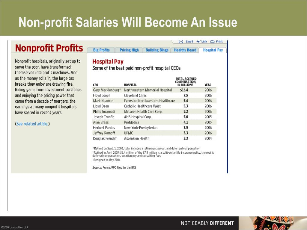 Non-profit Salaries Will Become An Issue