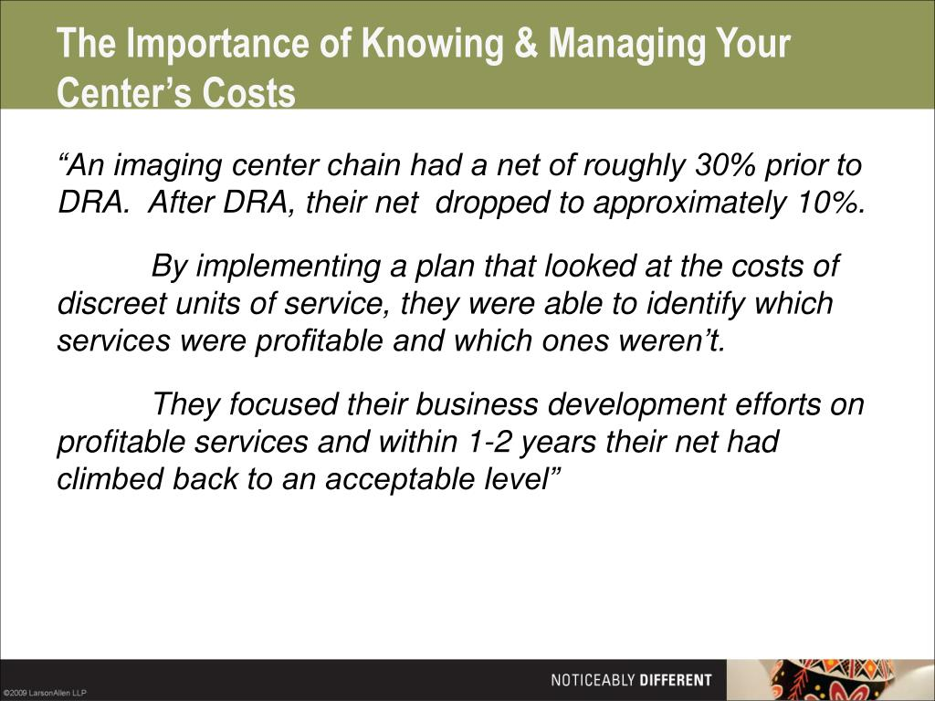 The Importance of Knowing & Managing Your Center's Costs