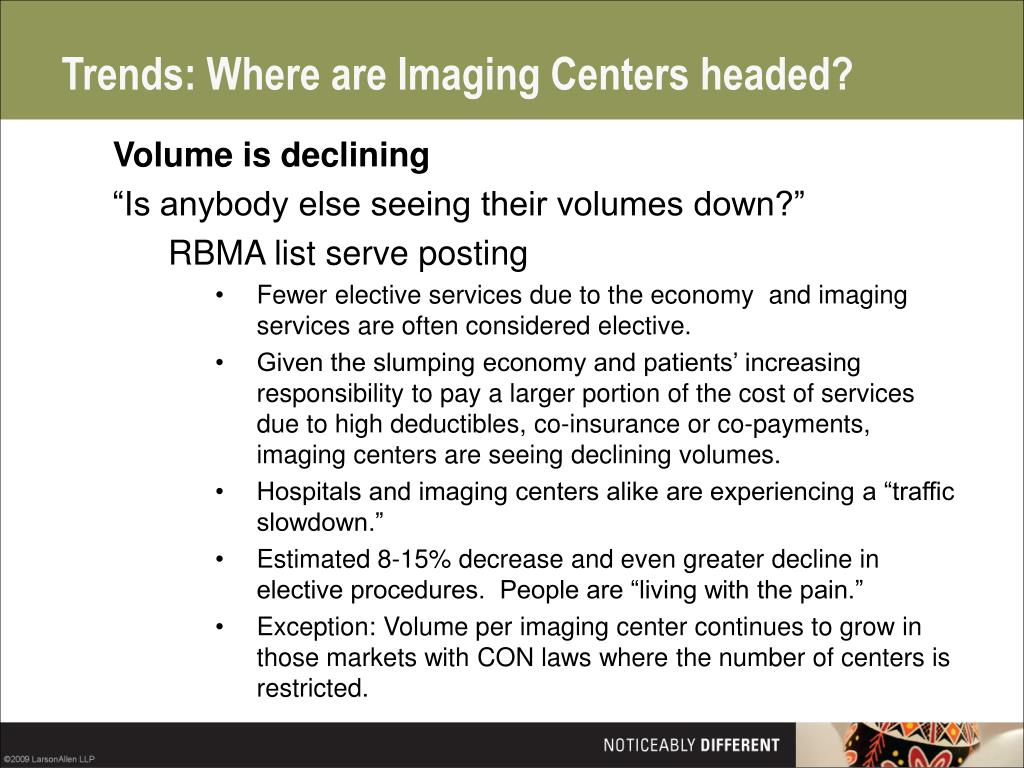 Trends: Where are Imaging Centers headed?