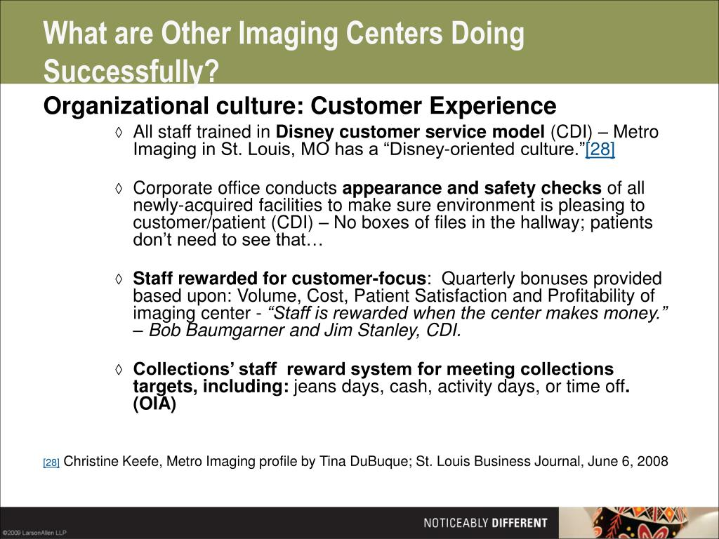 What are Other Imaging Centers Doing Successfully?