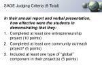 sage judging criteria 9 total