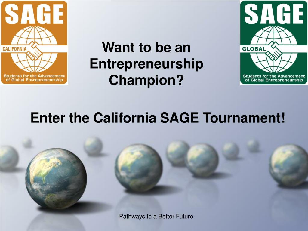 want to be an entrepreneurship champion l.