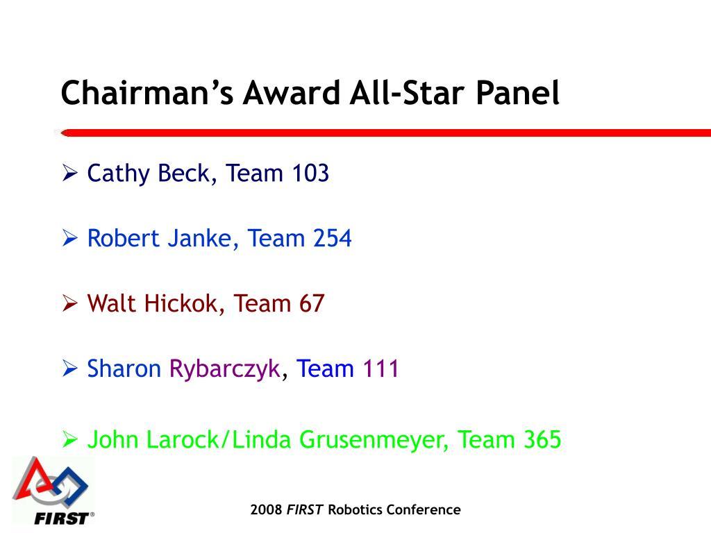 Chairman's Award All-Star Panel