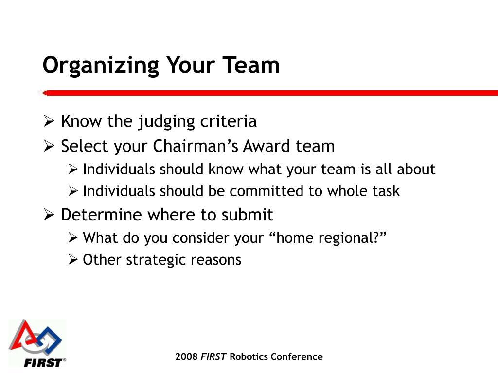 Organizing Your Team