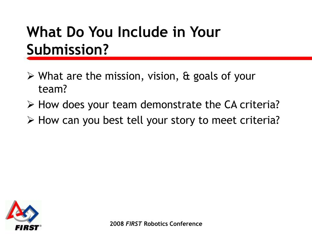 What Do You Include in Your Submission?
