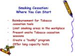 smoking cessation where you can start