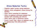 stress reduction tactics