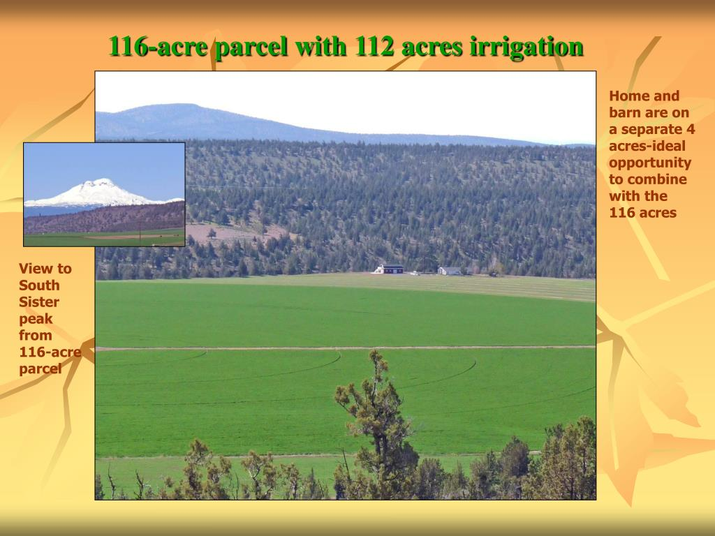 116-acre parcel with 112 acres irrigation