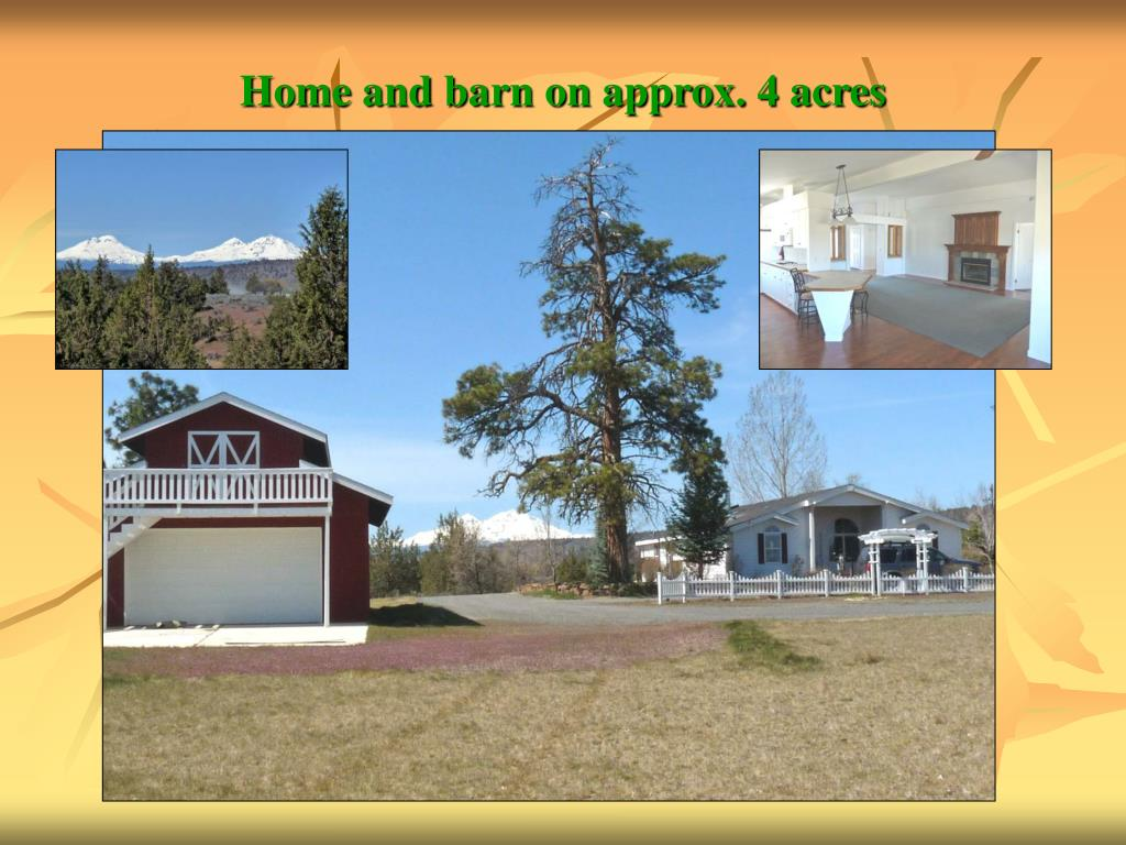 Home and barn on approx. 4 acres
