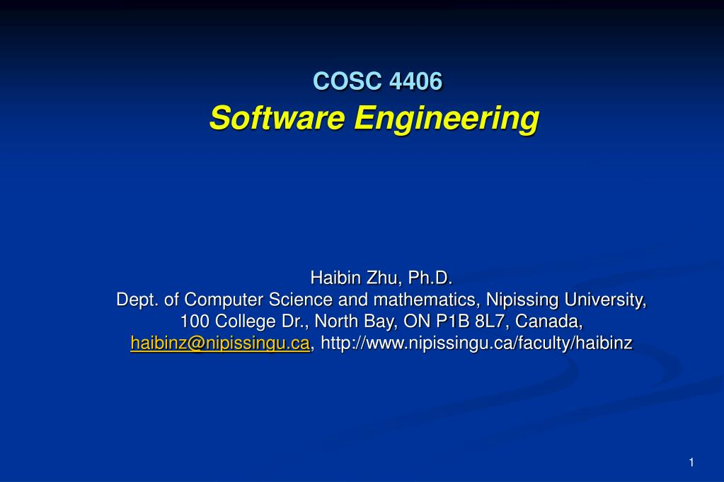 cosc 4406 software engineering l.