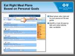 eat right meal plans based on personal goals