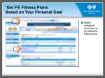 get fit fitness plans based on your personal goal