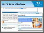get fit set up a plan today