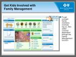 get kids involved with family management
