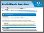 live well plans for easing stress