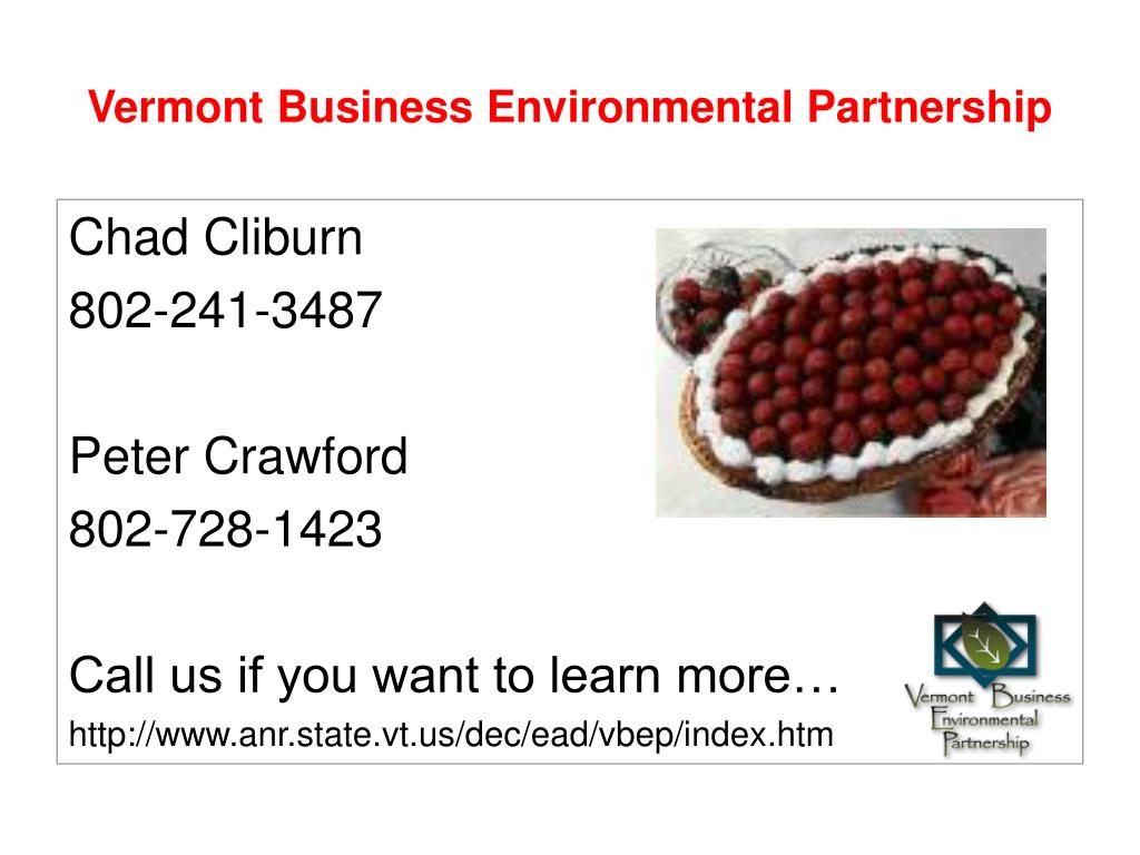 Vermont Business Environmental Partnership