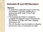 schedule b and hs numbers11