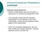 inferring evolutionary relatedness continued45